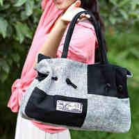 Free Shipping Shoulder bag national trend handbag hemp bag casual street brief vintage women's handbag