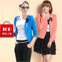 2015 fasion spring and autumn elegant puff sleeve short jacket, female shorts suit, popular, free shipping