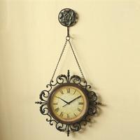 Fashion vintage metal tieyi big wall clock chains bell fashion home living room decoration clock