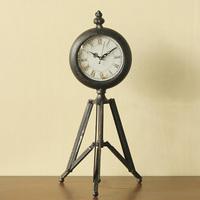 American style vintage retro finishing metal clock derlook tripod iron clock desk clock