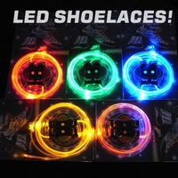 LED shoelace 500pcs/lot DHL/fedex free shipping Flash Shoelaces of LED Light,Luminous shoestring,LED bootlace 16colors in stock
