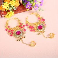 Beautiful  New 3pcs/set Necklace/Bracelets Belly Dance Costume Accessories