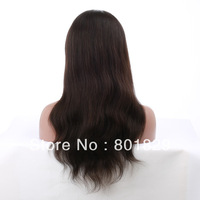 Free shipping grade 5A quality,Indian remy hair silk base full lace wig with baby hair,natural color,natural straight, 8''~24''