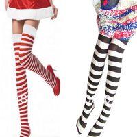 FREE SHIPPING Velvet stripe stocks over-the-knee student socks cosplay female stockG-120
