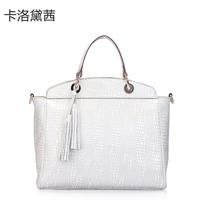 Coraldaisy  New 2013  Women Messenger Bags  Stone Pattern And Dual-use Bag Women Handbag Tassel Handbag Handbags Designers Brand
