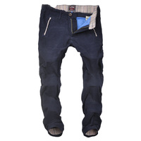 Free shipping 2013 winter thick cotton casual pants dark blue thick material Slim Korean small straight pants soft cloth cloth