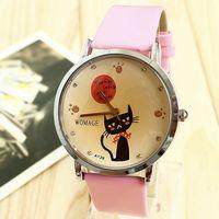 Hot 2013 Hot Fashion Partysu Watches New Brands Cat Rhinestone Bracelet Chain Round Watch Brand Famous Free Shipping