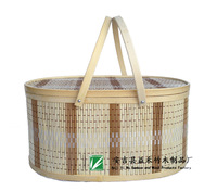 Free shipping Cheap grill basket eco-Friendly light basket handmade bamboo basket dumplings packing storage wholesale