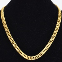 Personalized gold plated male classic thick soft old chain male gold plated necklace gold plated gold necklace