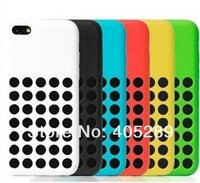2013 Silicon Case For iphone 5C ,High quality Soft Colorful Circle Hollow Fashion Dots Silicon Case For iphone 5C+Free shipping