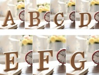 10cmX1.5cm(thick) Wood Wooden Letters A-Z Alphabet Bridal Wedding Party Home Decoration
