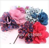 {Min.Order $15} 10pcs/Lot 11CM Silk Flower Semi-Part  For Hair Accessories/Garment/Jewelry/Bags/Shoes/Hats DIY