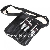 High quality PVC Cosmetic Makeup Brush Apron with Artist Belt Strap Professional Brush Bag , Dropshipping