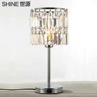 Crystal lamp table lamp bedroom lamp study light fashion living room lights lighting ofhead lamps for home decorations