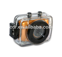 Free shipping HD  waterproof sport camera with night visions & motion detection