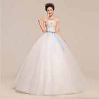 Customization for High quality wedding dress silk ribbon elegant wedding dress