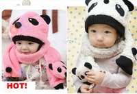 Fashion women knit wool hat scarf baby winter series is set, shawls, baby hat variety of colors Free shipping