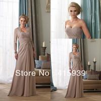 Promotion price!Free shipping a line beaded jacket bolero long chiffon mother of the bride dresses MQ037