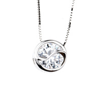 Free Shipping Unique Letter Silver Necklace Jewelry 925 Drop Pendant Necklace With 16inch Chain GNX0245