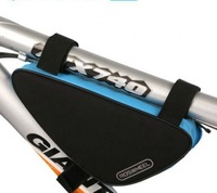 Blue-Black New Cycling Bag Bike Bag Bicycle bike bag Frame Front Tube Triangle Bag Quick Release