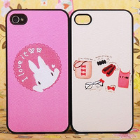 new Hot-selling rabbit cartoon set underwear iphone44s phone case stereo scrub set