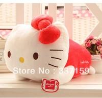 Free shipping soft stuffed hello kitty Plush Toy, Kawaii red kitty cat pillow, brand high quality, graduation & birthday gift