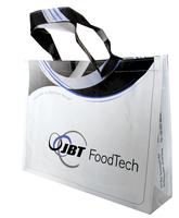 Eco-friendly shopping bag folding waterproof fashion brief velcro school bag one shoulder tote