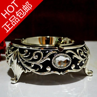 Silveriness senior ashtray black anti oxidation metal ashtray ktv home accessories  furnishings accessories decoration crafts