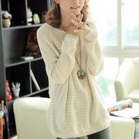 2012 autumn women's loose plus size batwing shirt cutout sweater female sweater