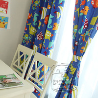 Customize cartoon fancy child real curtains and drapes