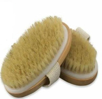 FREE FEDEX Shipping Cellulite bristle scrub & natural wood body shower bath brush massage