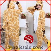Novelty Festival Carnival Novelty Animal Anime giraffe Autumn & winter hooded pajamas,Halloween party Cosplay Costume