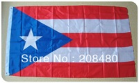 "FREE SHIPPING -""Puerto Rico"" national 3x5 feet flag, polyester flag, big flag,  208480"