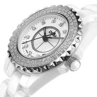 DOM Brand Sapphire dial  ceramic crystal diamond quartz watch 200 meter waterproof never fade high Quality dress woman watches