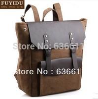 Backpack men canvas bags designer brand backpack high quality canvas+genuine leather bag for women women messenger bag