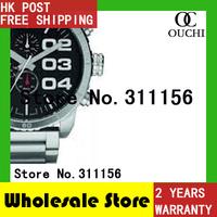DZ4209 New quartz watch 2014 Christmas Gift  Luxury Brand Watches Men Black Dial Stainless Steel Sports Round WristWatches 821YM