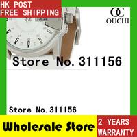 DZ1405 Christmas Gift Quartz Watch 2014 New Fashion Men White Luxury brand Leather strap Casual Women Dress Watches 821YM