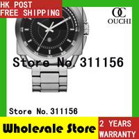 DZ1579 Christmas Gift 2014 Black Sliver Top Luxury Brand Quartz Watch Stainless Steel relogio masculino Business Watches 821YM