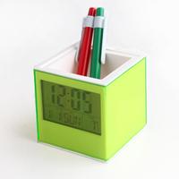 Fashion pen alarm clock brief electronic pen clock modern design unique gifts for children free shipping