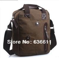 2013 autumn new arrival men canvas bags high quality canvas+genuine leather messenger bag for women men  vintage handbag