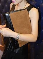 Clutch 2013 women's handbag crocodile pattern cowhide clutch bag fashion day clutch genuine leather messenger bag