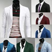 Free shipping pure color of men's leisure suit party dress suit fashion high quality suit eight color size M-L-XL-XXL-XXXL