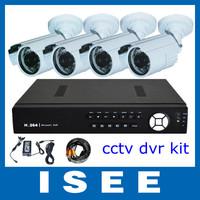 BIg sale Big sale  4 CH SDVR DVR with 4PCS 700TVL CCD Cameras CCTV Video Surveillance Security Camera System Free Shipping