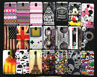 Free Shipping Plastic Hard Skin Cover Case For Samsung Galaxy Note 3 N9000, Mix Style