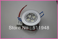 10pcs/lot 4w round shape led recessed ceiling light Cool /Warm white Beam angle 30 degree led down lights