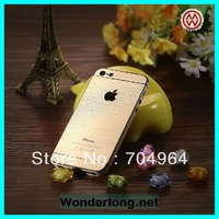 Factory wholesale Wire drawing Gold & Silver screen protector for iphone 5 and for iphone 5s DHL EMS free shipping