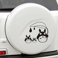 Cute cartoon hayao miyazaki GHIBLI totoro car stickers door window M size