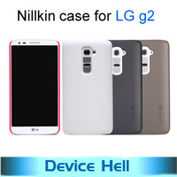 Luxury Nillkin Brand Frosted shell hard back cover skin protect case for LG g2, +Screen film +Retail Package +Free ship
