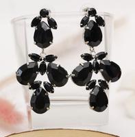 Quality gold plated austrian sparkling  gem long earrings