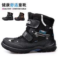 Child winter snow boots genuine kangaroo leather thermal male child boots male child snow boots ka